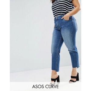 ASOS Curve Stepped Hem Boyfriend Jeans